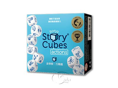 Rory��s Story Cubes Actions - Blue-Chinese Language Edition