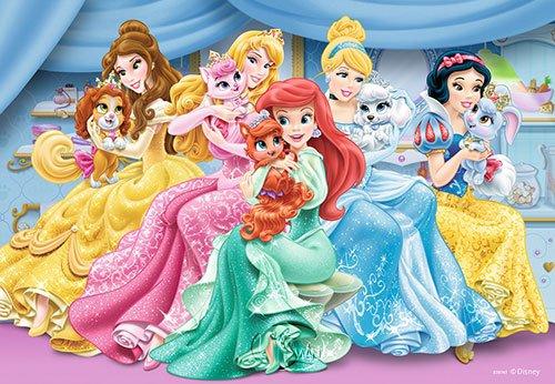 dbg海豚桌上游戏网: 【拼图-2x12片】迪士尼公主:可爱